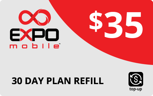 $34.29 Expo Mobile® Real Time Refill Minutes