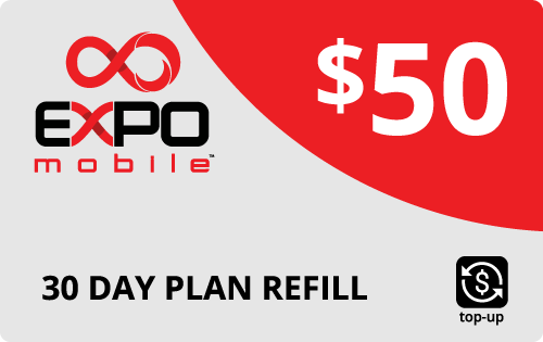 $48.99 Expo Mobile® Real Time Refill Minutes