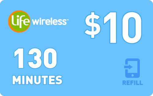 $9.79 Life Wireless® Refill Minutes Instant Prepaid Airtime