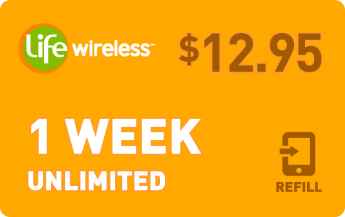 $12.75 Life Wireless® Refill Minutes Instant Prepaid Airtime