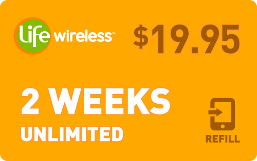 $19.65 Life Wireless® Refill Minutes Instant Prepaid Airtime