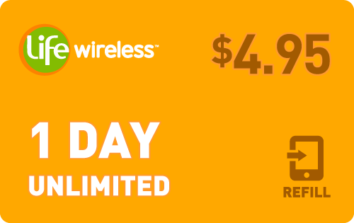 $4.85 Life Wireless® Refill Minutes Instant Prepaid Airtime
