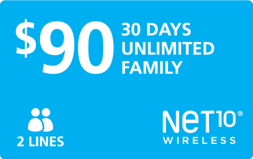 Buy the $90.00 Net10® Refill Minutes Instant Prepaid Airtime | On SALE for Only $90.00
