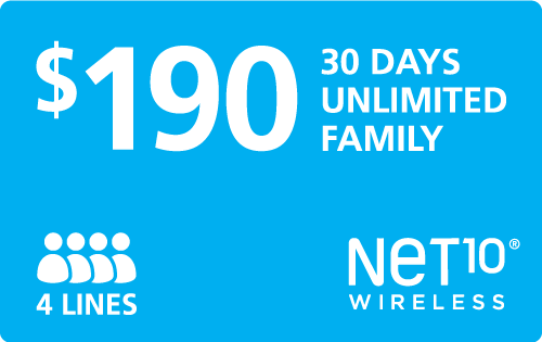 Buy the $190.00 Net10® Refill Minutes Instant Prepaid Airtime | On SALE for Only $190.00