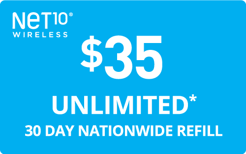 $35.00 Net10® Refill Minutes Instant Prepaid Airtime