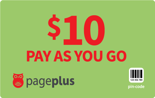 $10.00 Page Plus® Refill Minutes Instant Prepaid Airtime