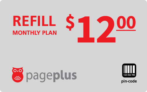 $12.00 Page Plus® Refill Minutes Instant Prepaid Airtime