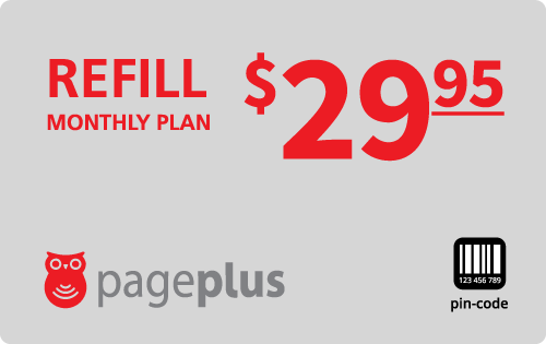$29.95 Page Plus® Refill Minutes Instant Prepaid Airtime