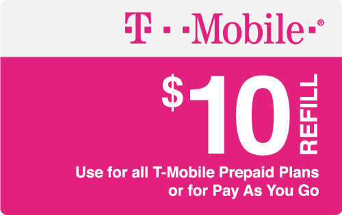 $10.00 T-Mobile® Real Time Refill Minutes