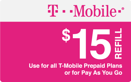 $15.00 T-Mobile® Real Time Refill Minutes