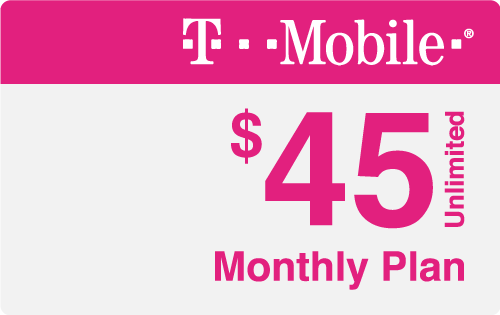 $45.00 T-Mobile® Real Time Refill Minutes