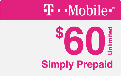 $60.00 T-Mobile® Real Time Refill Minutes