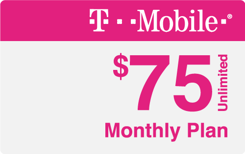 $75.00 T-Mobile® Real Time Refill Minutes