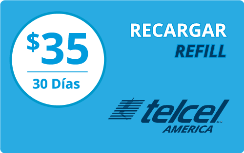 $30.00 Telcel America® Refill Minutes Instant Prepaid Airtime