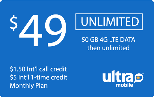 $49.88 Ultra Mobile® Real Time Refill Minutes