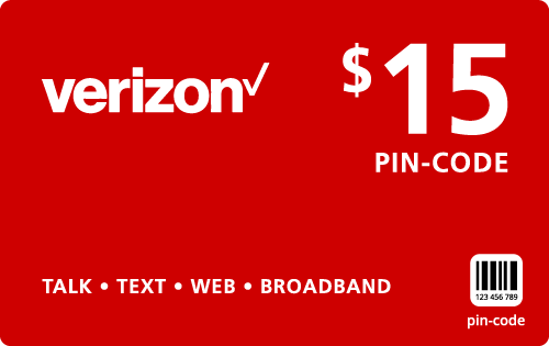 $14.95 Verizon Wireless® Refill Minutes Instant Prepaid Airtime
