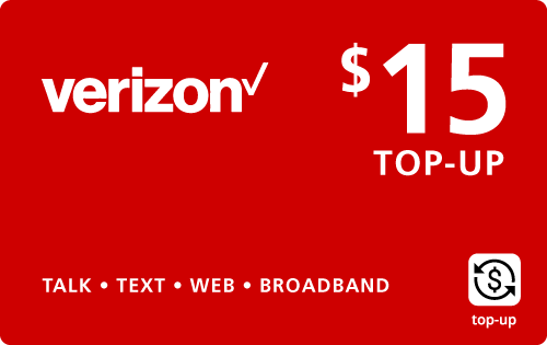 $14.95 Verizon Wireless® Real Time Refill Minutes
