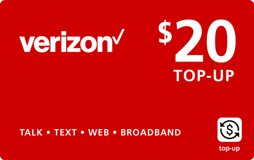 Buy the $20.00 Verizon Wireless® Real Time Refill Minutes | On SALE for Only $19.95