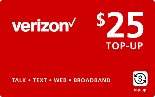 $24.95 Verizon Wireless® Real Time Refill Minutes
