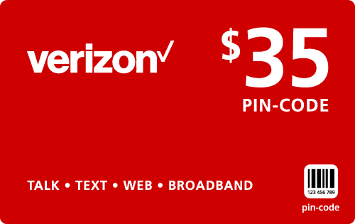 $34.89 Verizon Wireless® Refill Minutes Instant Prepaid Airtime