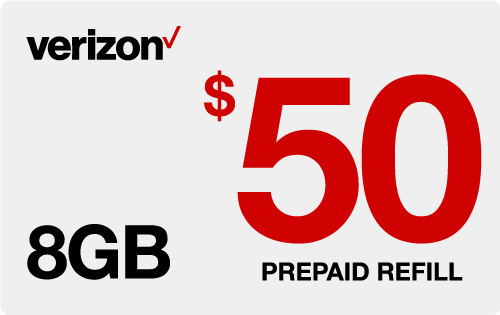 $49.75 Verizon Wireless® Real Time Refill Minutes