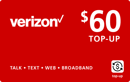 $59.79 Verizon Wireless® Real Time Refill Minutes