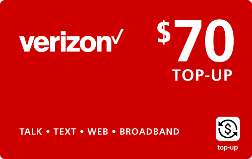 $69.69 Verizon Wireless® Real Time Refill Minutes