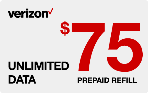 $74.39 Verizon Wireless® Real Time Refill Minutes