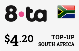 $4.20 8ta South Africa Prepaid Wireless Top-Up