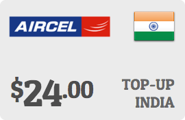 $24.00 Aircel India Prepaid Wireless Top-Up