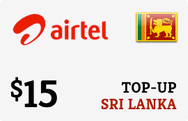 $15.00 Airtel Sri Lanka Prepaid Wireless Top-Up