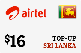 $16.00 Airtel Sri Lanka Prepaid Wireless Top-Up
