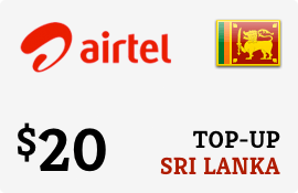 $20.00 Airtel Sri Lanka Prepaid Wireless Top-Up