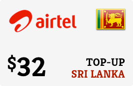 $32.00 Airtel Sri Lanka Prepaid Wireless Top-Up