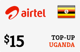 $15.00 Airtel Uganda Prepaid Wireless Top-Up