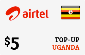 $5.00 Airtel Uganda Prepaid Wireless Top-Up