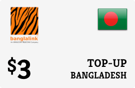 $3.00 Banglalink Bangladesh Prepaid Wireless Top-Up