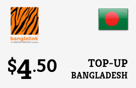 $4.50 Banglalink Bangladesh Prepaid Wireless Top-Up
