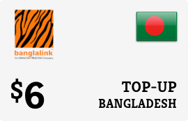 $6.00 Banglalink Bangladesh Prepaid Wireless Top-Up