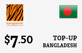 $7.50 Banglalink Bangladesh Prepaid Wireless Top-Up