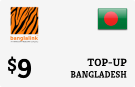 $9.00 Banglalink Bangladesh Prepaid Wireless Top-Up