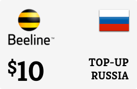 $10.00 Beeline Russia Prepaid Wireless Top-Up
