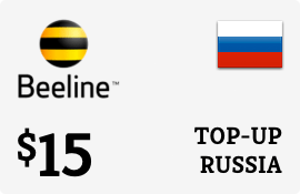 $15.00 Beeline Russia Prepaid Wireless Top-Up
