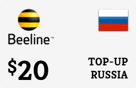$20.00 Beeline Russia Prepaid Wireless Top-Up