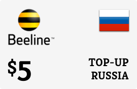 $5.00 Beeline Russia Prepaid Wireless Top-Up