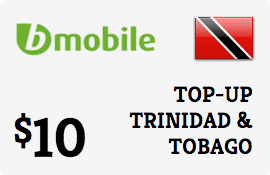 $10.00 bMobile Trinidad & Tobago Prepaid Wireless Top-Up