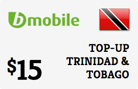 $15.00 bMobile Trinidad & Tobago Prepaid Wireless Top-Up