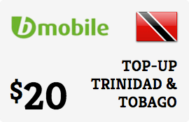$20.00 bMobile Trinidad & Tobago Prepaid Wireless Top-Up