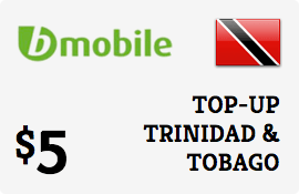 $5.00 bMobile Trinidad & Tobago Prepaid Wireless Top-Up