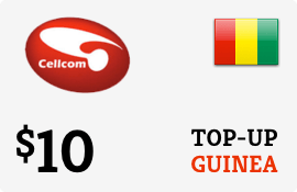 $10.00 Cellcom Guinea Prepaid Wireless Top-Up